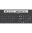 Set of Thin and Bold Fitness Aerobics Gym Elements vector image vector image