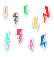set sticker lightning vector image