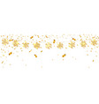 shining gold snowflakes on white background vector image