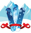 snowboards background vector image vector image