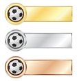 soccer medals vector image