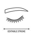 straight eyebrow shape linear icon vector image vector image