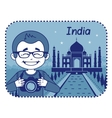 Teaser with photographer travels through India vector image