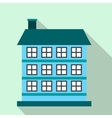 Three-storey house flat icon vector image