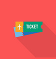 ticket icon set of great flat icons with style vector image