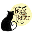 Trick or Treat Cat vector image vector image