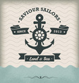 Vintage Anchor with ribbon vector image