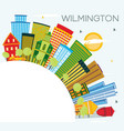 wilmington delaware city skyline with color vector image vector image