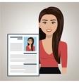 woman cv find person vector image