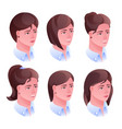 woman head hairstyle vector image