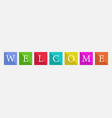 word welcome vector image