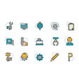 work tools engineering icons collection vector image