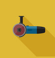 angle grinder flat icon vector image