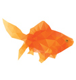 Polygonal Gold Fish vector image