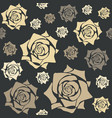 elegant seamless pattern with yellow roses vector image