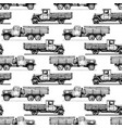 pattern with retro lorry vector image