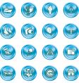 vacations travel and tourism icons vector image