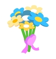 Valentine Day flower isometric 3d icon vector image