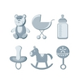 vector illustration baby icons set vector image
