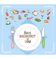 Best Breakfast For You vector image