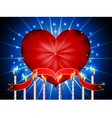Glossy heart happy valentines day background vector image