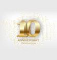 10th anniversary celebration golden template