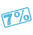 7 Percent Rubber Stamp vector image vector image