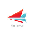 abstract arrow - logo template concept vector image