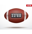 american football ball with score game vector image vector image