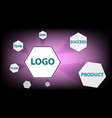 any business concept is schematic vector image vector image