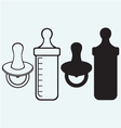 bapacifier and bottle vector image vector image