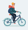 bicyclist man on a bicycle 3d icon vector image