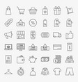black friday line icons vector image vector image