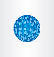 blue abstract globe with rain drops vector image vector image