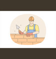 builder man during work concept vector image