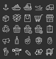 Business transportation element line icons vector image vector image