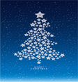 Christmas and new years snow background with star vector image vector image