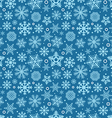 Christmas seamless pattern of different snowflakes vector image vector image