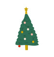 christmas tree with decorations happy new year vector image
