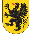 coat of arms of pomeranian voivodeship in vector image vector image