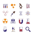 Color chemistry research and science icons vector image vector image