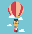 Concept help fellow businessmen to success vector image vector image