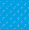 contrabass pattern seamless blue vector image vector image