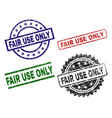 damaged textured fair use only seal stamps vector image vector image
