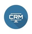 Desktop CRM System Icon Flat Design vector image vector image