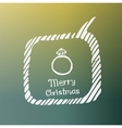 diamond ring white icon Doodle Christmas vector image