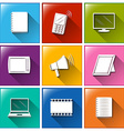 different color of communication icons vector image vector image