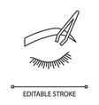 eyebrows shaping linear icon vector image vector image