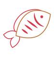 fish seafood fresh nutrition icon vector image vector image