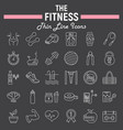fitness line icon set sport symbols collection vector image vector image